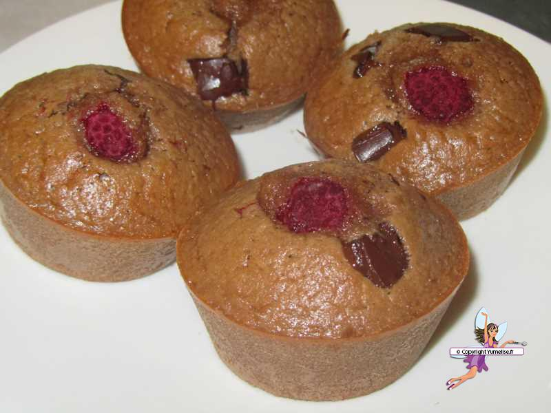 Muffins framboise et Philadelphia milka