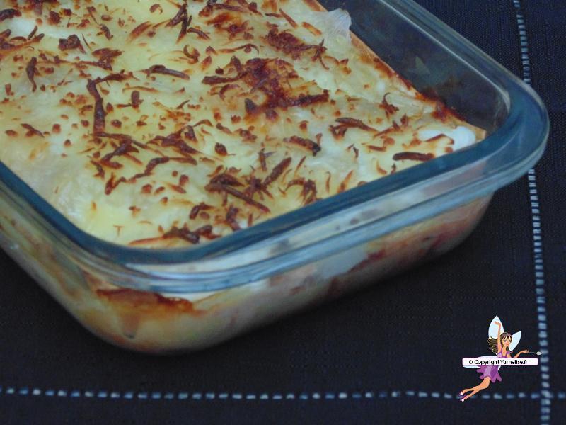 lasagnes saumon coupe