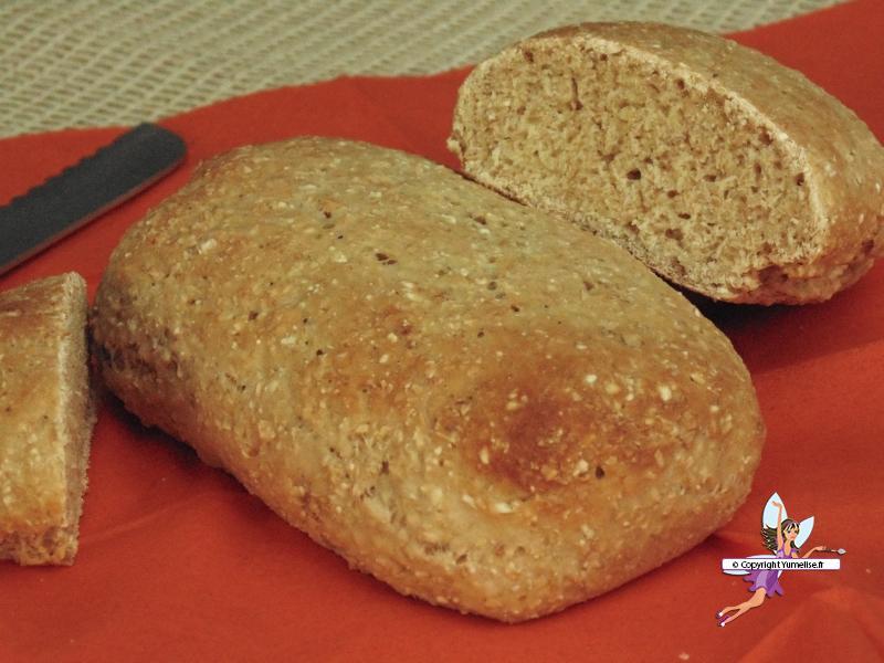 pain son d'avoine et dukkah