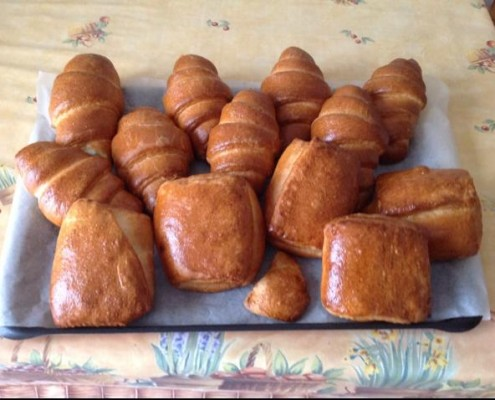 croissants et pains choco faciles