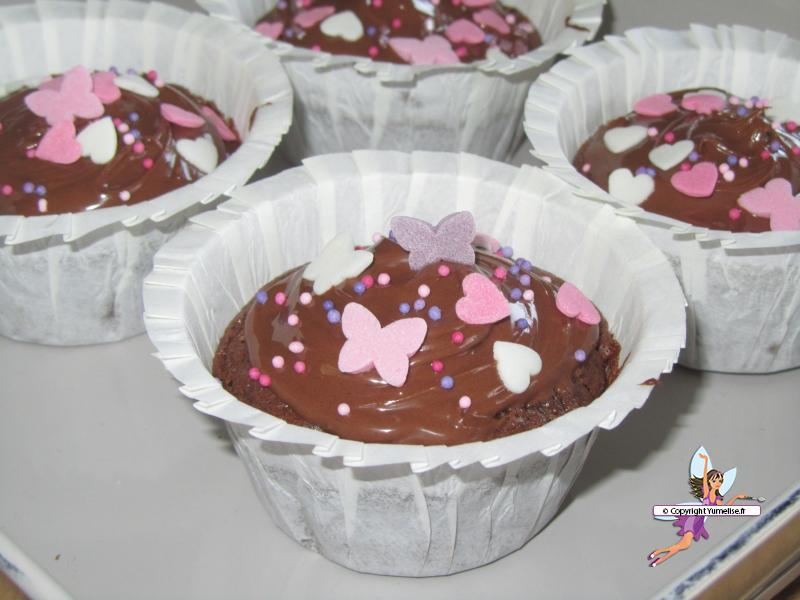 cupcakes brownie nutella