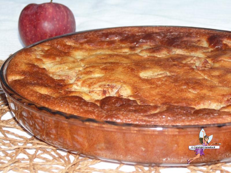 moelleux pommes gros plan