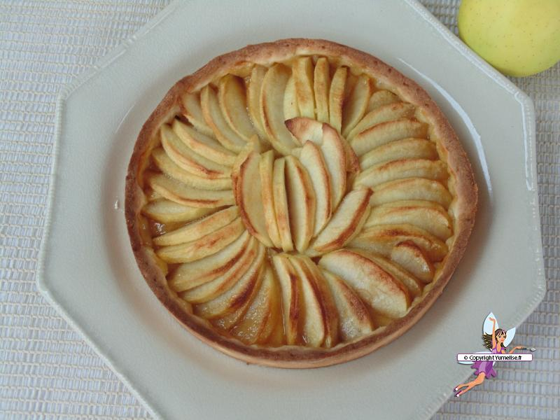 tarte pommes dessus
