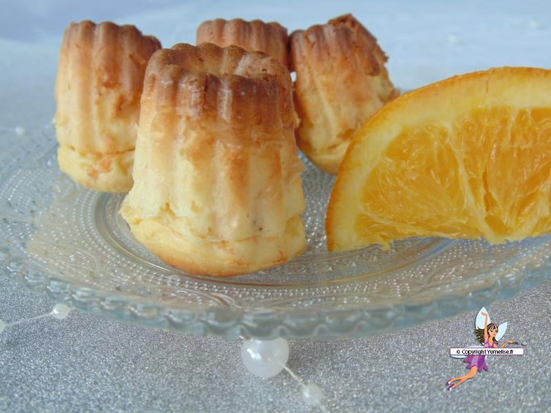 canneles saumon orange