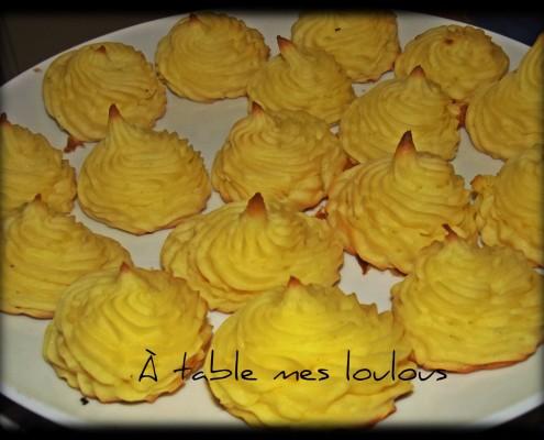 pommes duchesse a table mes loulous