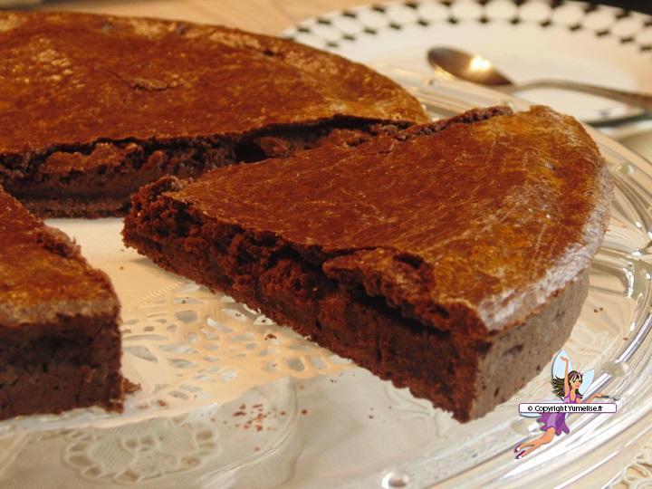 gateau basque chocolat part