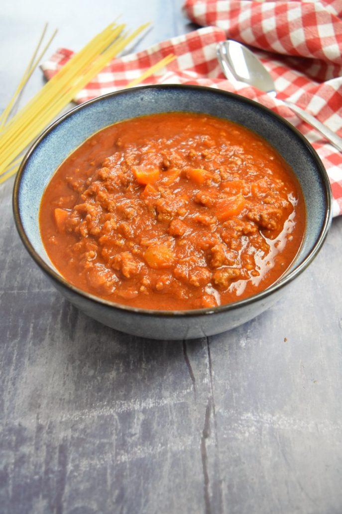Sauce bolognaise faite au Cookéo
