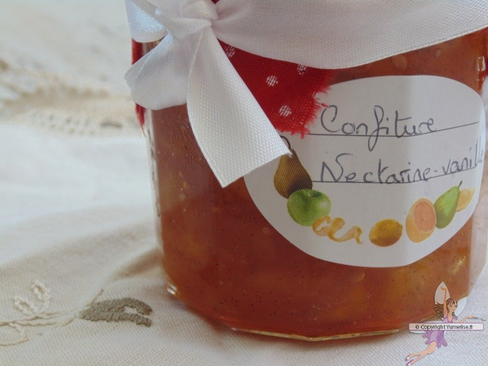 confiture nectarines vanille