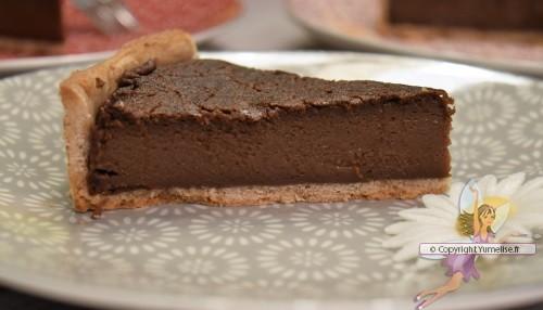 tarte flan chocolat