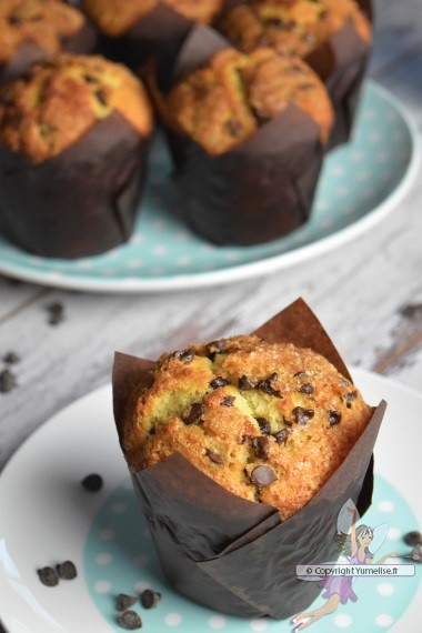 Muffins Geants Aux Pepites De Chocolat Yumelise Recettes De Cuisine