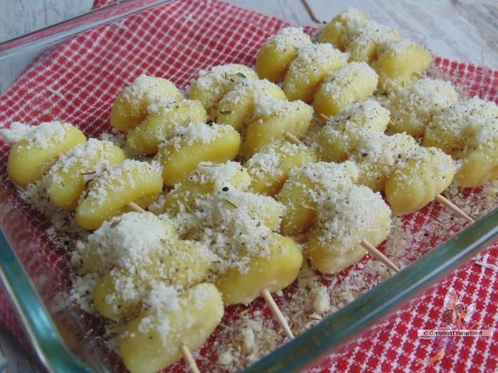 Brochettes ap ritives de gnocchis yumelise recettes de cuisine - Brochettes aperitives sans cuisson ...