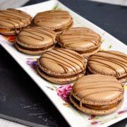 macarons twix chocolat et caramel