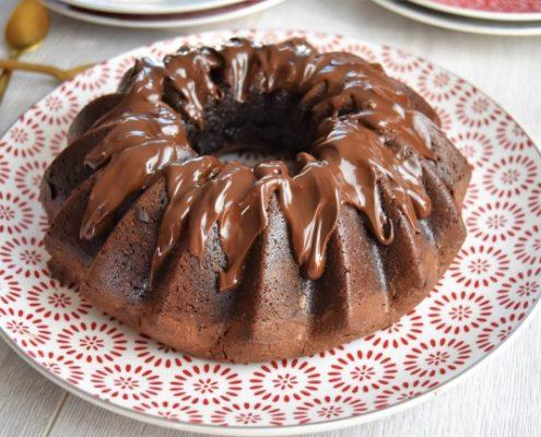bundt cake au chocolat et à la noisette
