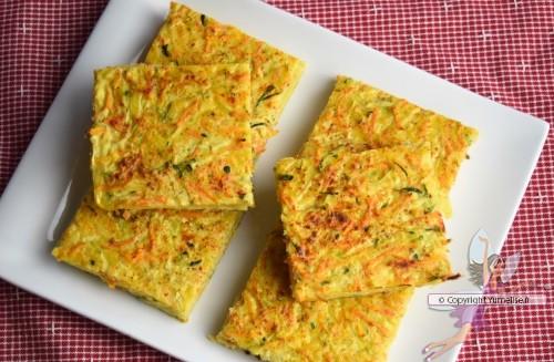 croque-légumes au fromage et jambon