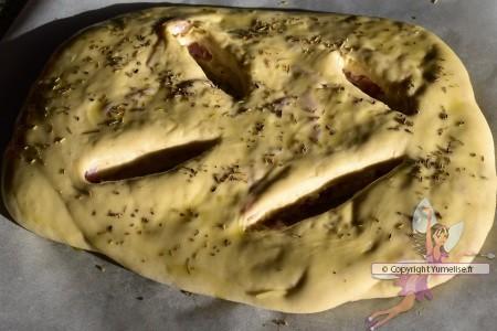 fougasse huile d'olive et herbes de Provence