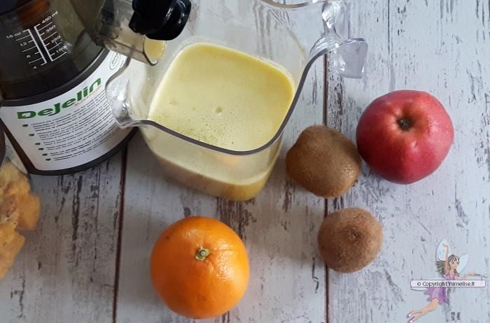 Jus multivitamin l extracteur de jus orange kiwi et pomme yumelise recettes de cuisine - Gelee de pommes avec extracteur de jus ...