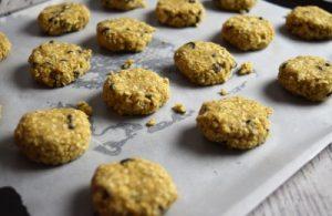 biscuits avoine et chocolat avant cuisson