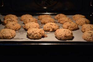biscuits avoine et pépites de chocolat cuits