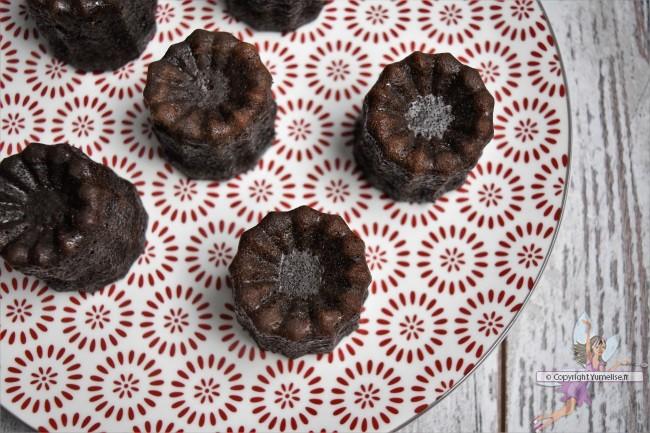 cannelés au chocolat du dessus