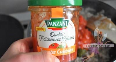 crêpes farcies, sauce tomates Panzani