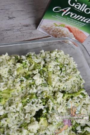 crumble riz brocoli avec riso gallo