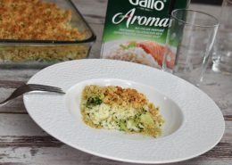 crumble riz, brocoli, flocons d'avoine