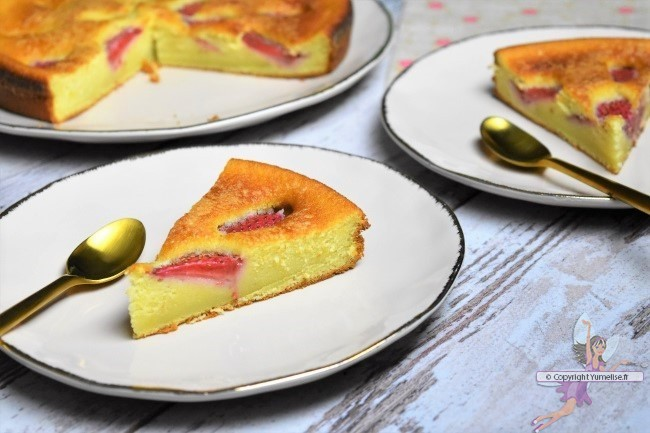 parts de gâteau à la fraise
