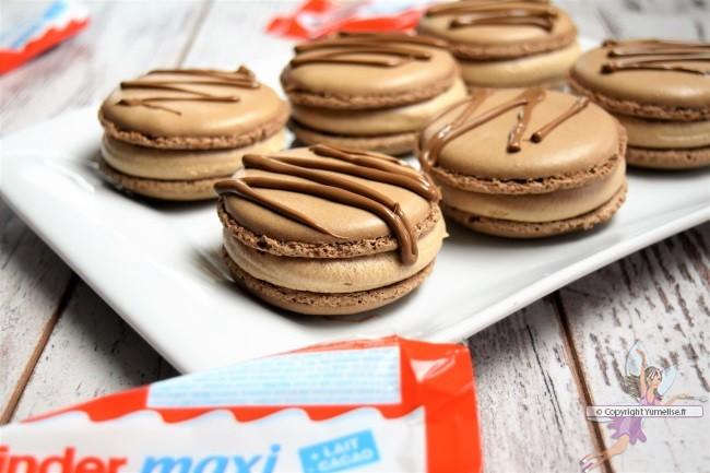 macarons au chocolat Kinder