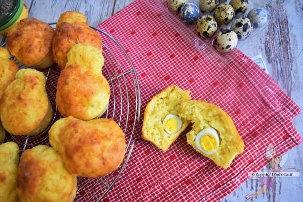mini-cakes aux oeufs de caille