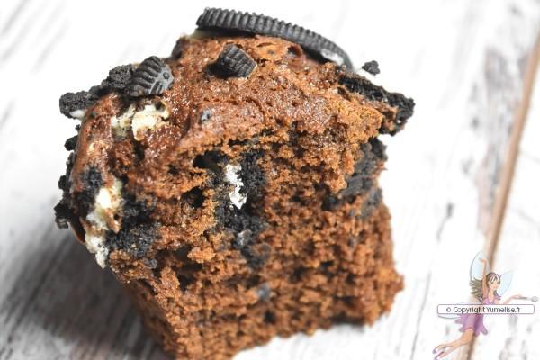 intérieur du muffin oreo