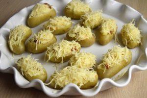 pommes de terre farcies au chorizo avant cuisson