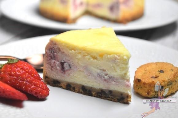 part de cheesecake aux fraises