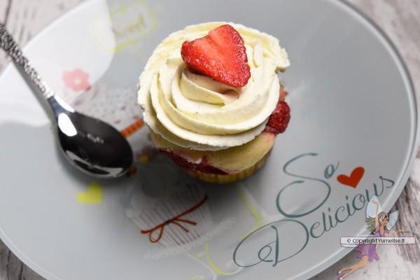cupcake fraise et mascarpone
