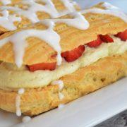 éclairs aux fraises et crème diplomate