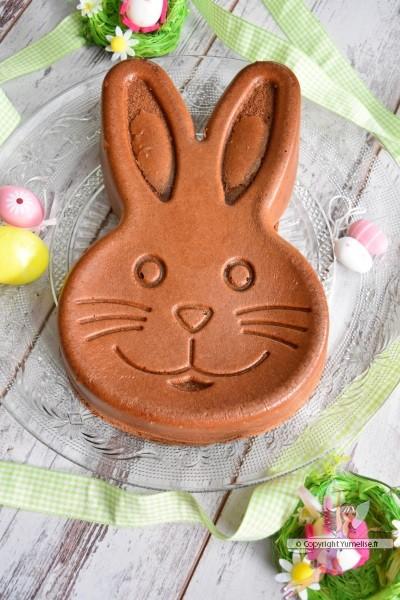gâteau au chocolat en forme de lapin