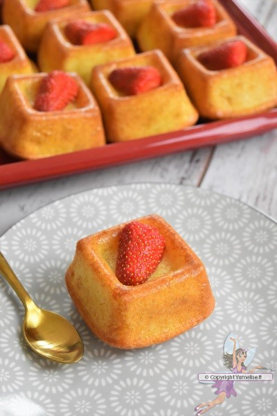 savarin au rhum et fraise