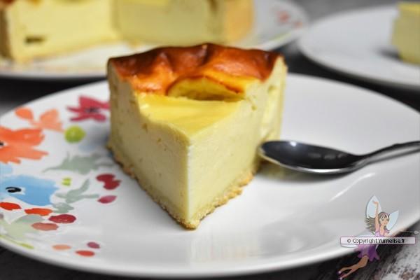 part de tarte au llinmoncello et fromage blanc
