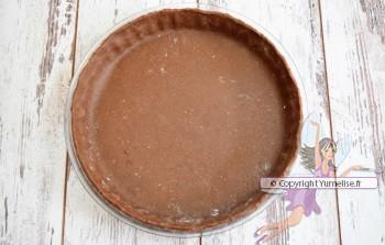 fond sablé de la tarte mousse chocolat