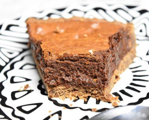 part de la tarte mousse au chocolat