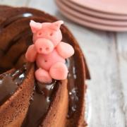 le bundt cake chocolat et manège au cochon
