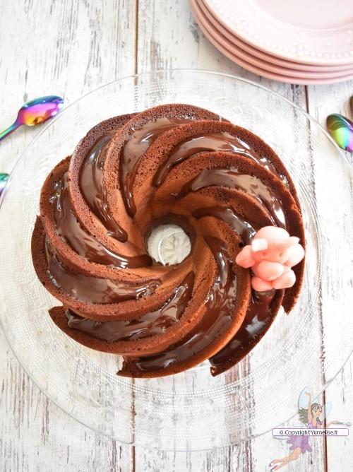 bundt cake chocolat de dessus