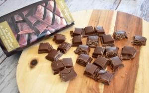 tablette de chocolat fourrée caramel