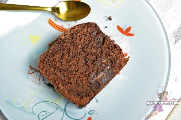 part de cake au chocolat caramel