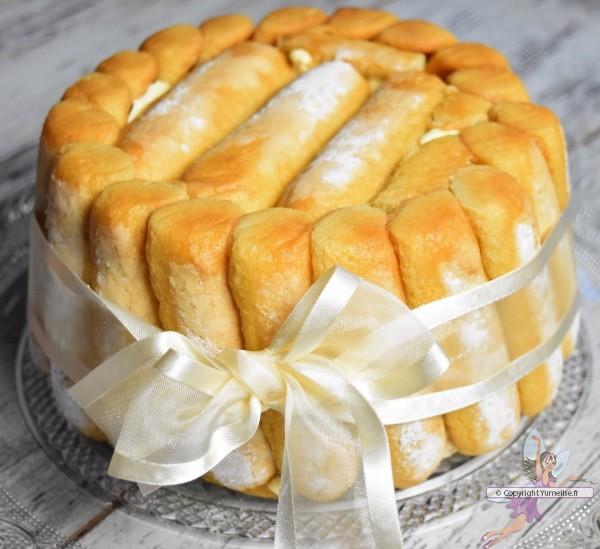 charlotte avec nappage caramel beurre salé