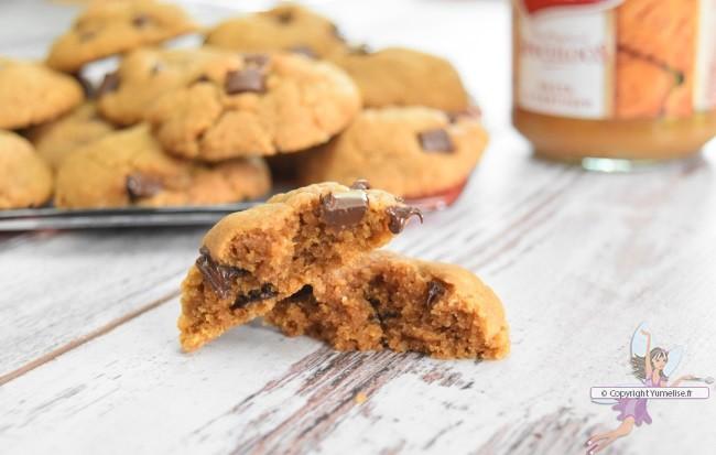 les cookies à la pâte de spéculoos et pépites de chocolat