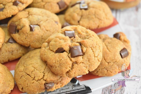 les cookies à la pâte de spéculoos cuits