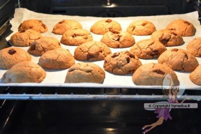 cuisson des cookies à la pâte de speculoos