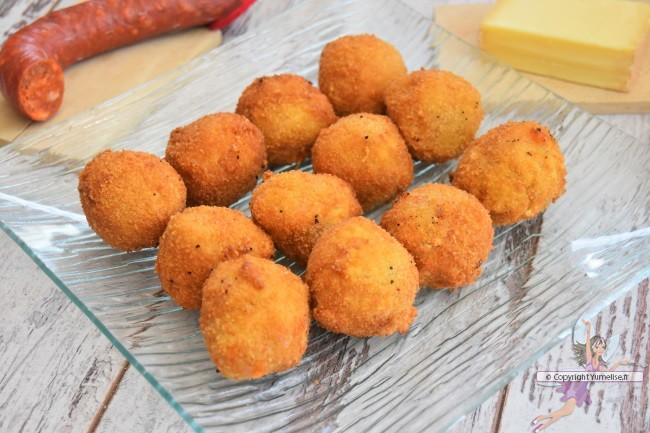 croquetas avec chorizo et fromage