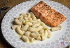 pâtes sauce citron vert et pavé de saumon