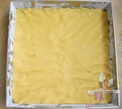 fond de pâte sablée sur la rhubarb crumbpie